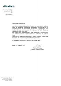 Certificazione Alitalia