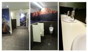 I servizi igienici del Rifugio Monte Elmo, in Val Pusteria