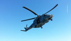 Il nuovissimo elicottero SH90 della Marina Militare