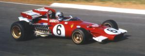 La Ferrari 312B di Mario Andretti a Kyalami nel suo GP vittorioso del 1971 ©Brian Watson