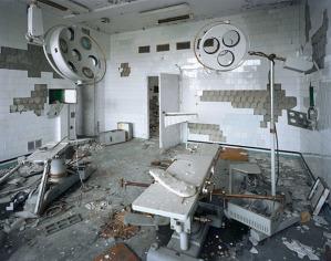Quello che resta di una delle sale operatorie dell'Ospedale di Pripyat