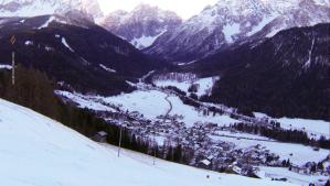 Veduta di Sesto dalla pista che parte da Monte Elmo