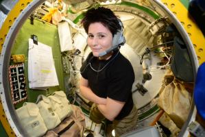 Samantha Cristoforetti nella Stazione Spaziale Internazionale