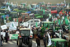 La protesta degli allevatori
