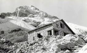 Il rifugio Franchetti nel 1973