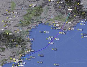 Mappatura e tracciato radar del volo 4U9525  partito da Barcellona
