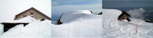 Ecco come si presentava il Rifugio Franchetti dopo la nevicata di Pasqua