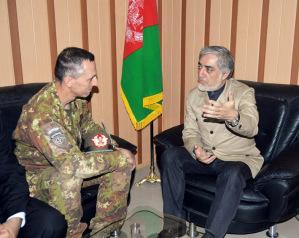 Michele RISI e il capo dell'esecutivo del governo afghano Abdullah Abdullah