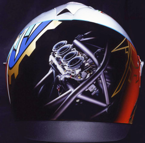Un casco con un disegno suggestivo e spettacolare