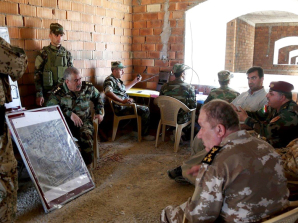 Il posto di comando del Battaglione