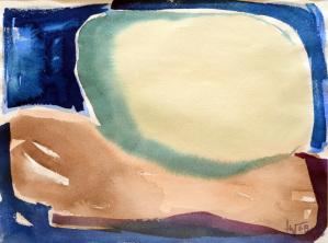 Senza titolo 1968, acquerello, cm 34,8×46,4, Collezione privata, Foggia