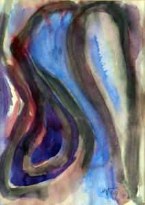 Senza titolo 1969, acquerello, cm 46×33, Collezione privata, Monte Sant'Angelo