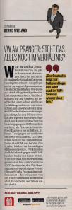 L'editoriale apparso sul settimanale Auto Bild