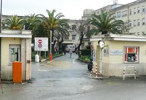 L'entrata dell'Ospedale Colombo di Velletri