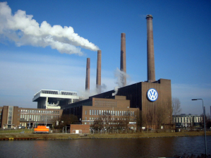 La fabbrica della Volkswagen a Wolfsburg