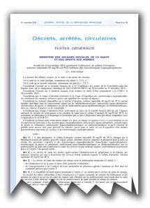 Uno stralcio della copia del decreto del governo francese