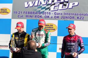 Il podio della OK con il danese Nicklas Nielsen sul gradino più alto del podio ©FM