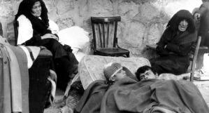 Una foto drammatica del terremoto dell'Irpinia del 1980