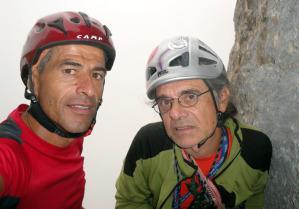 Gli indimenticati alpinisti abruzzesi, da sinistra Luca D'Andrea e Roberto Iannilli