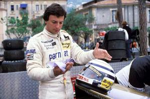 Riccardo Patrese ai tempi della Formula Uno, qui a Montercarlo nel 1979