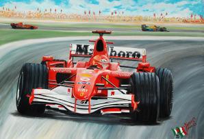 Ercole Furia, la Ferrari 248 F1 di Michael Schumacher del 2006