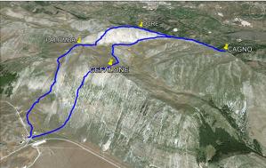 La ricostruzione tridimensionale del Monte Cefalone a Campo Felice dove si è registrato lo schianto dell'elicottero e la morte del suo equipaggio
