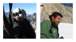 Il verricellista Mario Matrella e l'operatore del Soccorso alpino Davide De Carolis
