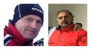 Lo sciatore romano Ettore Palanca e l'infermiere Giuseppe Serpetti