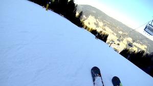Una bella immagine di una discesa con gli sci sulla pista del Baranci ©massimo manfregola/masman