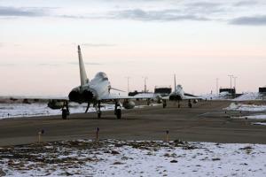 Sei velivoli Eurofighter sono partiti nel marzo scorso da Grosseto alla volta dell'Islanda