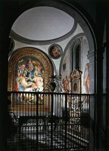 L'interno della Cappella Capponi nella chiesa di Santa Felicita a Firenze
