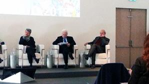 Da sinistra, Laura Moro, Mauro Severi e Claudio Strinati