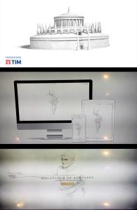 Immagini del progetto multimediale che riporta una sezione