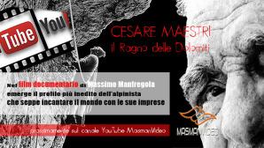 la copertina del progetto audiovisivo dedicato al Ragno delle Dolomiti