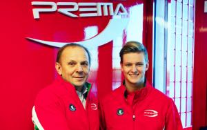 Angelo Rosin, della scuderia vicentina Prema, con Mick Schumacher. Era il 2016 con la firma dell'accordo fra il pilota tedesco e la blasonata scuderia italiana