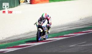 Kevin Zannoni che a Misano ha messo a segno sue vittorie nella Moto3 in sella alla TM del team RGR TM Racing Factory Team di Davide Giugliano