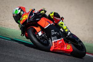 Massimo Roccoli, in azione con la sua Yamaha